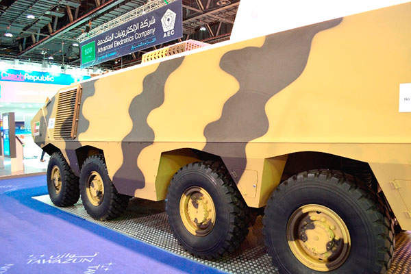 The Matador armoured vehicle runs on a 420hp diesel engine. Image courtesy of Streit Group.