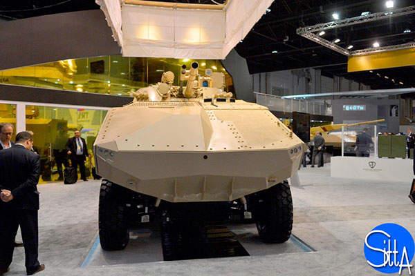 The Enigma 8x8 vehicle is designed by Emirates Defense Technology. Image: courtesy of Ministère de la Défense.