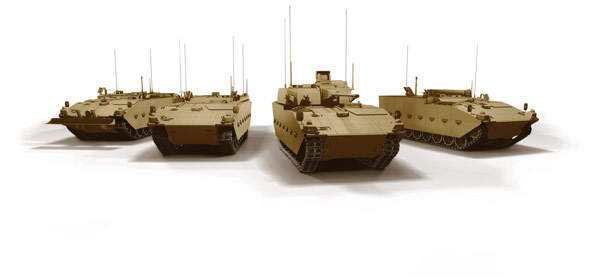 The Scout Specialst Vehicle family variant of the ASCOD armoured fighting vehicle (AFV) developed by General Dynamics UK for the FRES specialist vehicle program.