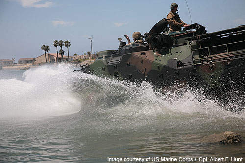 An AAV7A1 demonstrates its capabilities during Protramid Programme.