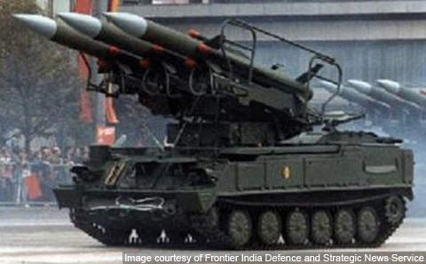 The Akash missile being launched from a T-72 tank chassis.
