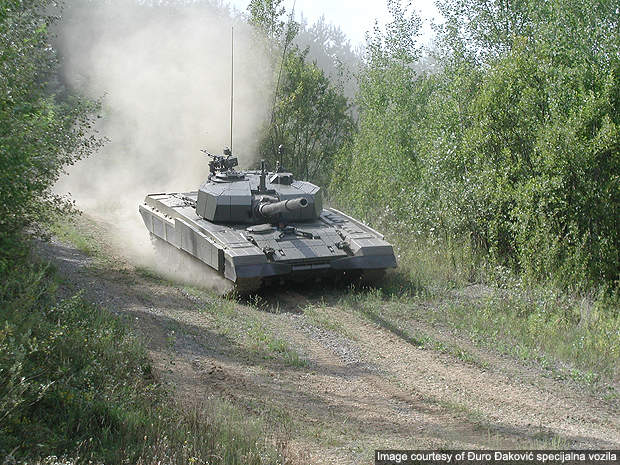 Degman M-95 MBT during trails.