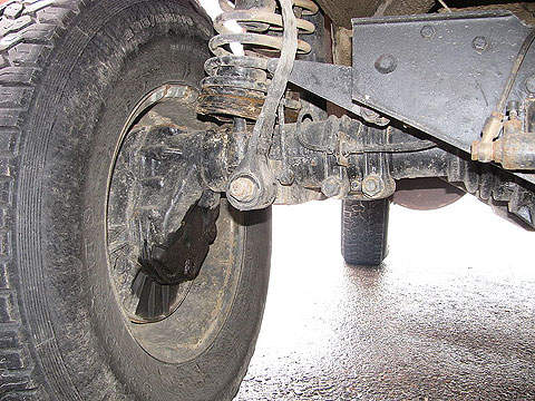 The portal axle of the Pinzgauer.