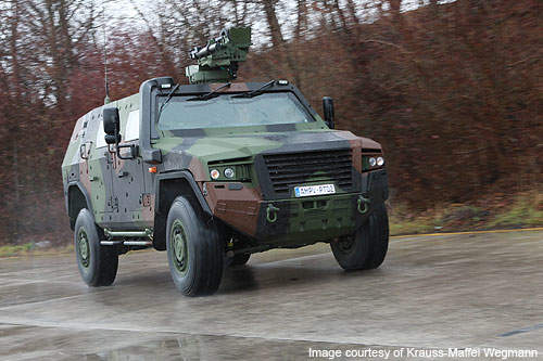 The AMPV has a maximum speed of 110km/h.