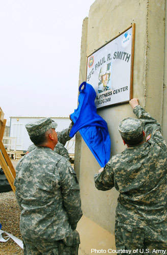 In April 2008, the Paul R. Smith Physical Fitness Centre was dedicated to the army.