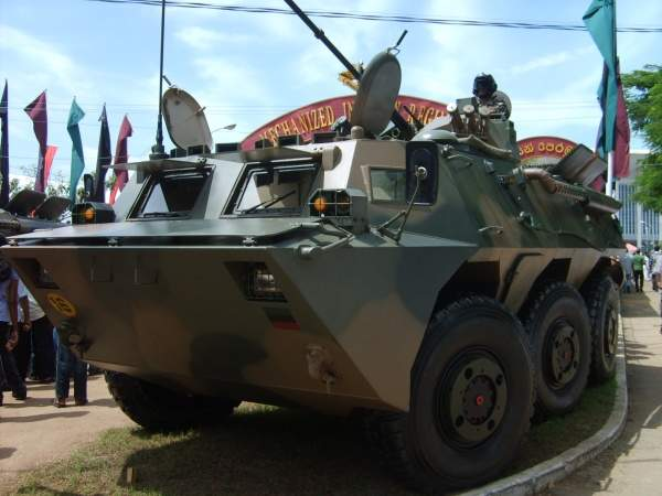 A WZ-551 of the Sri Lanka Army Mechanized Infantry Regiment demonstrated at the army's 60th Anniversary Exhibition. Image courtesy of Chamal N.