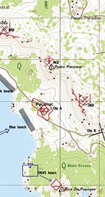 Mapping Screen shot of Virtual Battlespace 2 simulation software