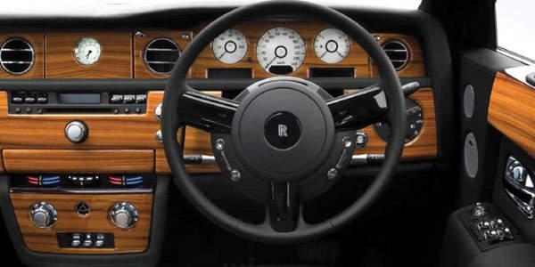 Car interior and steering wheel column