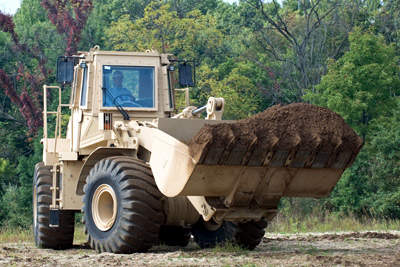 Cat 966H military wheel loader