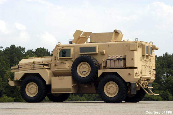 The vehicle has category I MRAP protection.