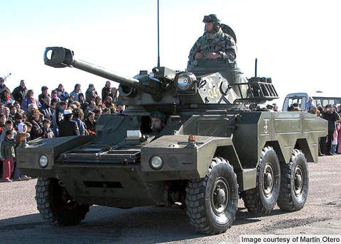 The first batch of Sagaie vehicles entered service with the French Army in 1984.