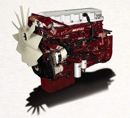 Mack Truck engine set up