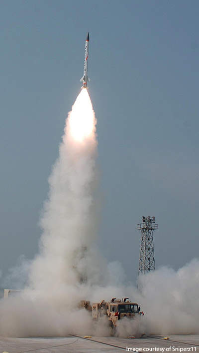 Advanced Air Defence (AAD) anti-ballistic missile is the second missile used in the two-tier BMD system.