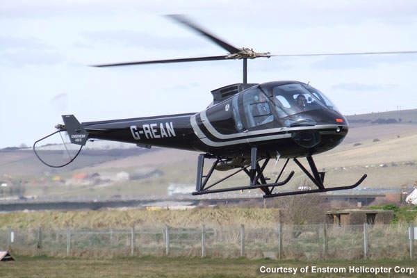 Enstrom 480B maiden flight