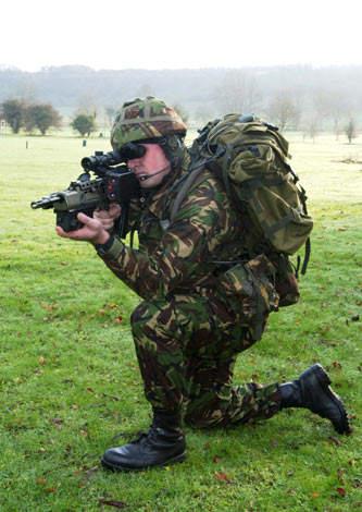 SA80 Assault Rifle with Enhanced Sighting System