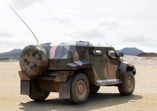 The Hawkei vehicle weighs approximately 7,000kg and is developed as a next-generation light mobility vehicle.