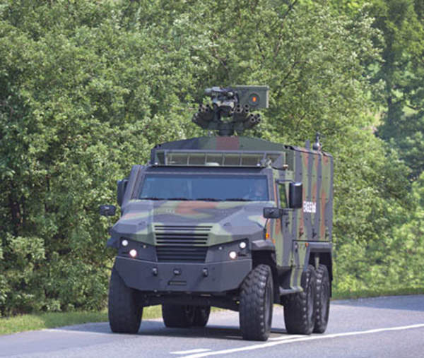 The Eagle 6x6 has a maximum on-road speed of 110km/h.