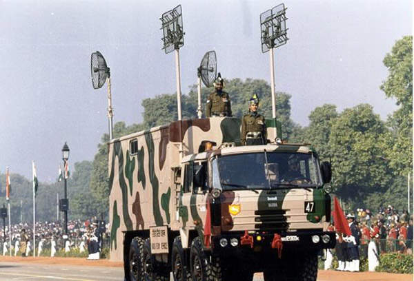 The command post vehicle is equipped to control all the six Pinaka launchers in a battery. Image courtesy of Indian Army.