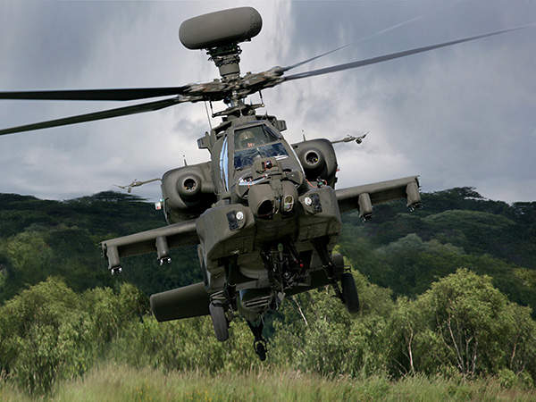 The Apache AH Mk1 helicopter can conduct precision attack missions in all-weather conditions.
