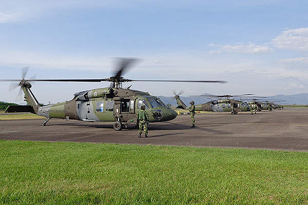 The S-70i Black Hawk helicopter can transport up to 13 troops. Credit: Sikorsky Aircraft Corporation.