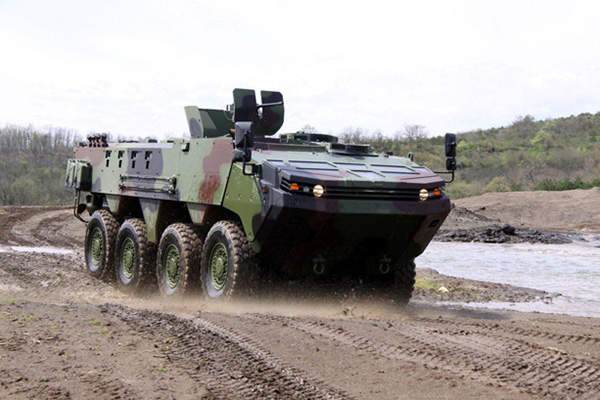 The ARMA 8x8 armoured tactical vehicle has a modular and highly protected monocoque armoured hull.