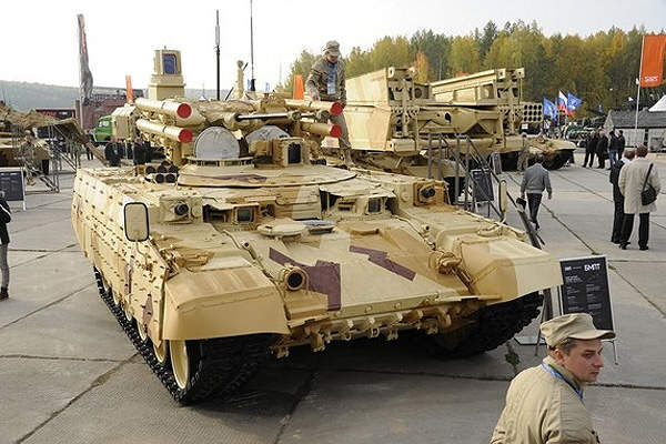 The BMPT tank support combat vehicle served as the basis for the BMPT-72 vehicle. Image courtesy of UralVagonZavod.