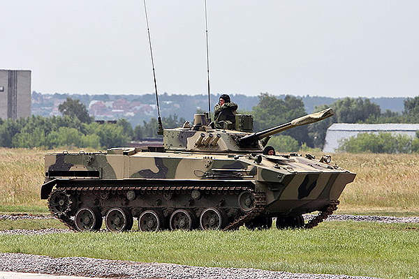 The BMD-4M IFV can accommodate two crew and six infantrymen. Image courtesy of Vitaly V. Kuzmin.