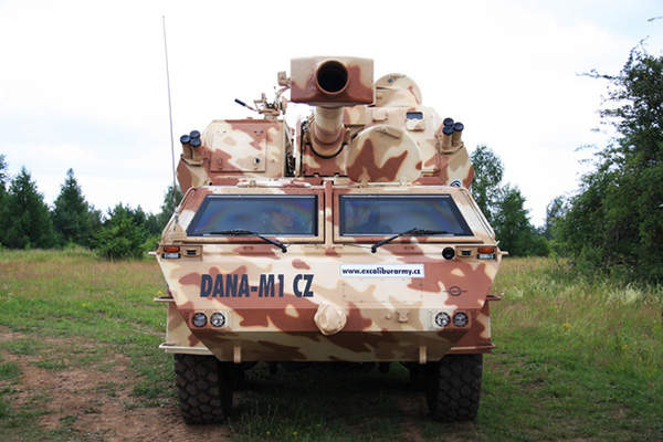 The main armament of DANA-M1 CZ is a 152.4mm gun. Image courtesy of Ministry of Defence of the Czech Republic.