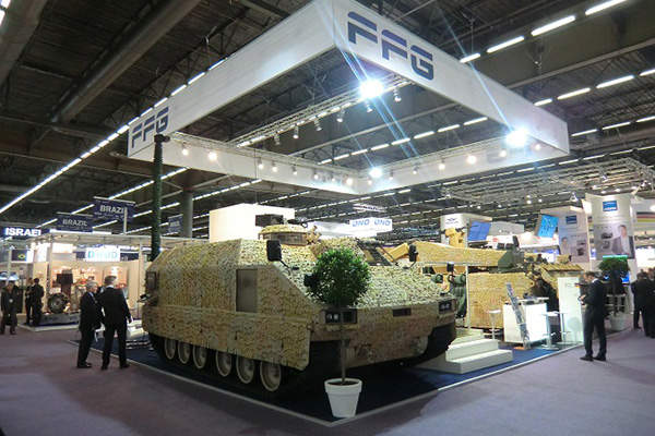 The PMMC G5 APC has a gross vehicle weight of 26.5t. Image courtesy of Flensburger Fahrzeugbau Gesellschaft MBH.