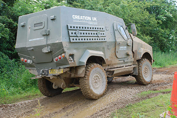 The Metras multi-role vehicle is powered by a four-cylinder MAN engine. Image: courtesy of Penman