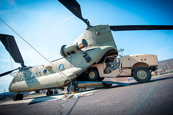 The combat support vehicle can fit into a V-22 Osprey aircraft's main cabin with the seats retracted. Image: courtesy of Boeing Phantom Works.