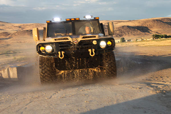 The International Saratoga offers protected mobility and transportability for the land forces operating in multiple threat environments. Image courtesy of Navistar Defense.