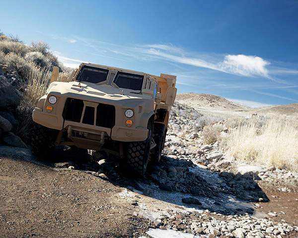 The light combat tactical all-terrain vehicle (L-ATV) is developed by Oshkosh Defence as part of the Joint Light Tactical Vehicle (JLTV) programme.