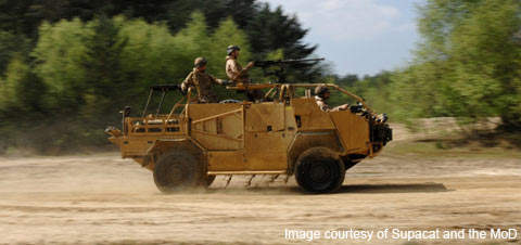 The Coyote is a 6×6 flatbed version of the Jackal which will be a light tactical service vehicle.