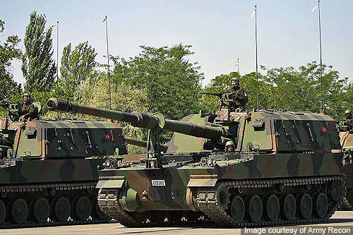 T-155 Firtina is a Turkish variant of the K9 Thunder 155mm self-propelled howitzer.