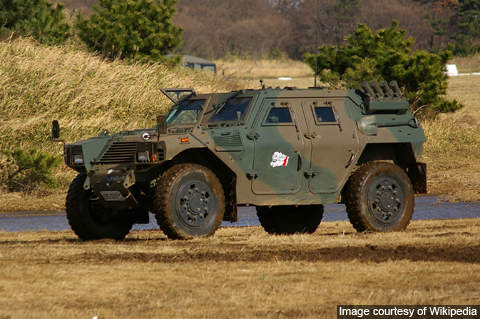 Komatsu LAV has a passing resemblance to Panhard's VBL used by the French army.