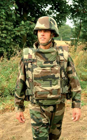 Soldier Wearing Stab-Resistant Body Armour