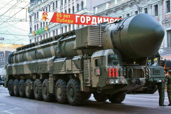 Topol-M mobile missile system at Red Square during parade repetition in Moscow. Image courtesy of ru:Участник:Goodvint.