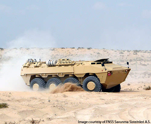 The PARS 8x8 being demonstrated in the deserts of the UAE in 2008.