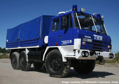 The T815 series has several mission variants and comes in 4x4, 6x6 and 8x8 configurations.