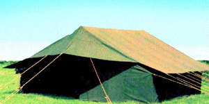 Military Specification Tent in a Field