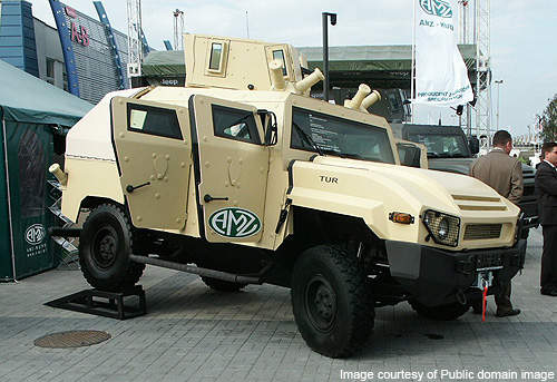 AMZ-Kutno Tur prototype vehicle displayed at the International Defence Industry Salon 2007 exhibition held in Kielce, Poland.