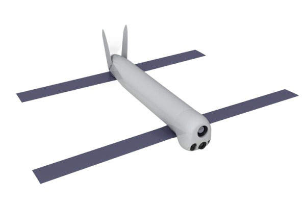 The Switchblade missile features foldable tandem wings. Image: courtesy of AeroVironment, Inc.