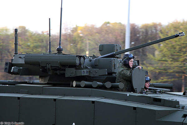 The vehicle is armed with a 7.62mm PKTM coaxial machine gun mounted on a remotely-controlled turret. Image: courtesy of Vitaly V Kuzmin.