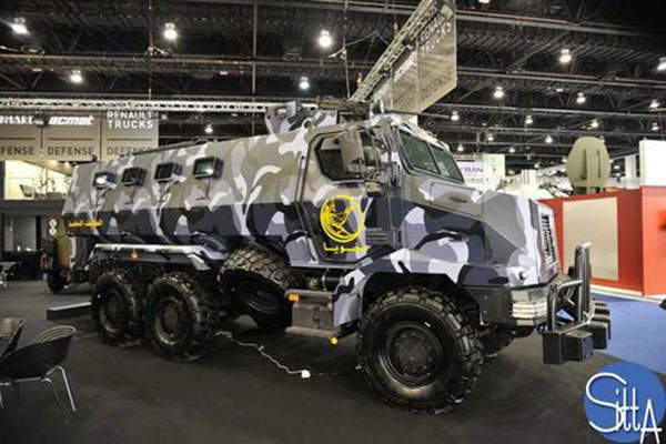 The Higuard armoured vehicle featuring deFNder light remote weapon station was exhibited at the Eurosatory 2012 trade show. Image: courtesy of FN Herstal.
