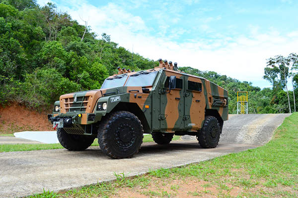 The TUPI armoured vehicle is being offered for the VBMT-LR programme of the Brazilian Army. Image courtesy of Avibras.