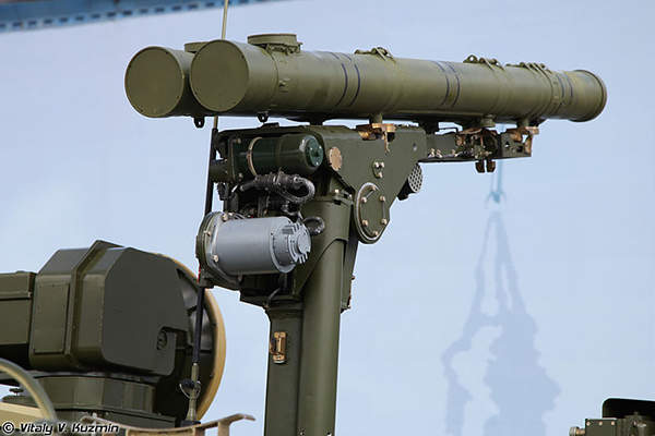 The canistered 9M123 missile measures 2.3m-long. Image courtesy of Vitaly V. Kuzmin.