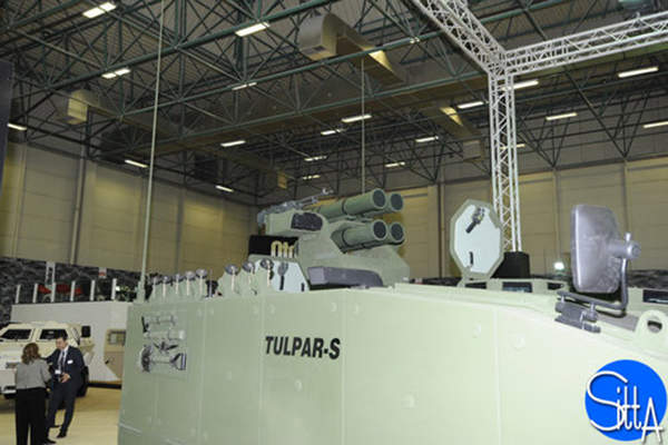 The Tulpar-S tactical vehicle displayed at the IDEF 2015 exhibition was armed with four Kornet-E anti-tank guided missiles. Image: courtesy of Ministère de la Défense.
