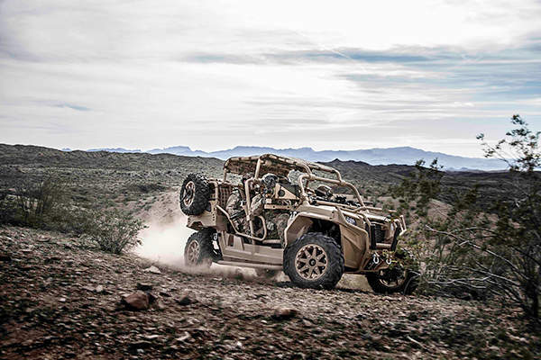 Polaris MRZR 4 off-road vehicle has a speed of 96km/h. Image courtesy of Polaris Industries Inc.