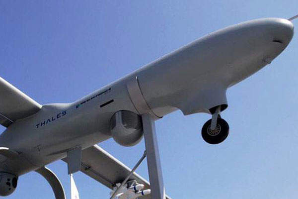 The Watchkeeper X UAS has a maximum transit speed of 95k. Image: courtesy of Thales.